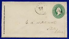 US #U163 Small #3 Postal Stationery Cover Herron ME to Strong ME 1874