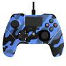 X Rocker Mayhem PS4 Wired Asymmetrical Controller - Camo - Blue