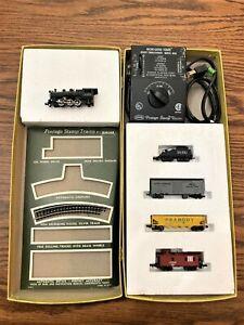 RARE Vintage N Scale Aurora Postage Stamp Train Set INCOMPLETE Engine 4 Cars +