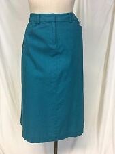 PENDLETON Teal Linen Long  Pencil Maxi Skirt Career Size 4 New $88