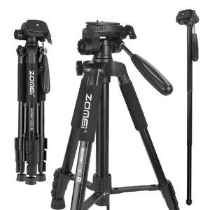 ZOMEi Q222 Pro Aluminum Tripod Heavy Duty Monopod Travel Stand For DSLR Camera