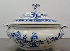 Ältere Hutschenreuther ovale Porzellan Deckel Terrine Zwiebelmuster 1,5 liter