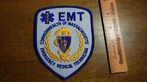 COMMONWEALTH MASSACHUSETTS EMT EMERGENCY MEDICAL TECHNICIAN EMT  PATCH  BX 2#3