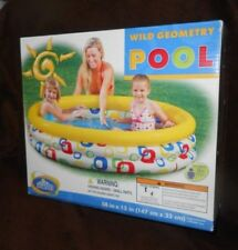 """The Wet Set Wild Geometry Kids Swimming Pool - 58"""" x 13"""" - New, Factory Sealed"""