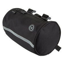 Bicycle Handlebar Touring Bag Sunlite Roll w/Liner Black Strap On