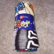 "NEW Star Wars Limited Edition M&M's World Fleece Blanket Throw Over 50"" x 60"""