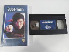 SUPERMAN CHRISTOPHER REEVE GENE HACKMAN CINTA TAPE VHS COLECCIONISTA ESPAÑOL
