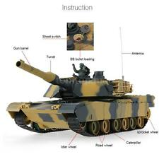 Cool HENG LONG 3816 1/24 USA M1A2 Abrams Airsoft Battle Panzer RC Tank X9I6