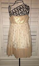 Marchesa Notte Cocktail Dress Gown Empire Cut Gold Sz 2