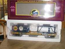 "CSX Flat Car w/Tank and 20' Container MTH Toy Train ""O"" Gauge (Lionel Size)"