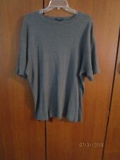 Gap Fitted Gray Knit Top Sz XXL 100% Cotton Bust 52 Length 27.5 inches