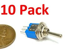 10 Pack SPDT On/On Mini Toggle Switch Single Pole Double Throw 3pin 3/16 5mm G24