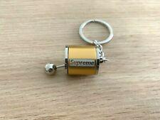 Gold 'Superme' Metal Gear Keychain Keyring Key Chain Ring for Car keys
