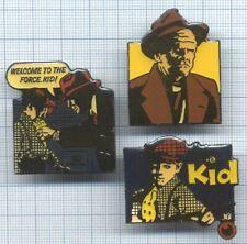 Lot de Pin's Disney film Héros Dick Tracy the Kid villain Prune Face / movie BD