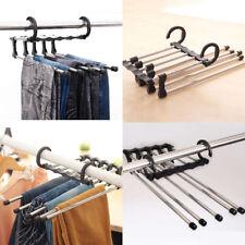 5 in 1 Trousers Pants Denim Jeans Scarf Coat Hanger Hook Clothes Rack
