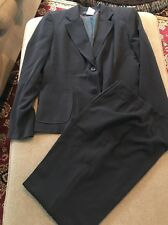 Women's Collection Harve Benard Size 12 Pant Suit Blazer Slacks Black (SD)