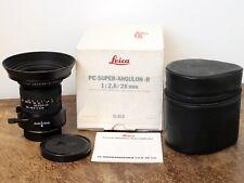 Leica 28mm f/2.8 PC-Super-Angulon-R Shift Lens Prime Lens Near Mint & Boxed