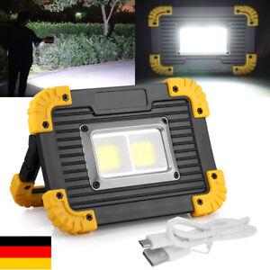 20W LED Akku Strahler Arbeitsleuchte Baustrahler Handlampe Flutlicht Fluter DHL