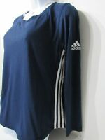 adidas ClimaLite 3-Striped Crossover Cutout Back Athletic Shirt Womens Sz M,L,XL
