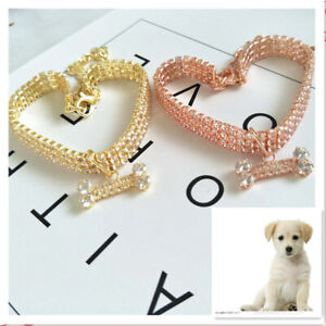 Allacki Artificial Rhinestone Pet Collar Cute Necklace for Small Medium Dog