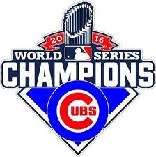 "Chicago Cubs World Series 2016 Champions Vinyl Decal Sticker 4"""