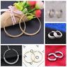 Men Women Unisex Fashion Stainless Steel Matte Charm Huggie Hoop Earrings 2PCS