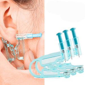 Disposable Ear Piercing Pierce Gun Stud Tool Earring Kit Piercer Studs Safety UK