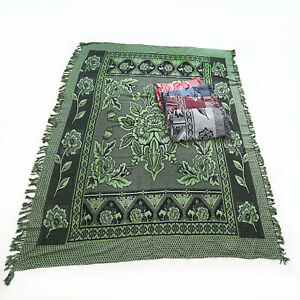 1pce Green Boho Throw Rug / Table Cloth / Picnic / Camping Blanket 180x200cm