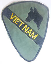 Rare - Banned Patch - US 1st CAVALRY - MAP / HORSES HEAD - Vietnam War - 2078