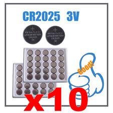 2025 pile CR CR2025 Lotto 10 3V Litio Lithium bottoni lithio batterie et