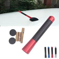 """Universal 3"""" Red Aluminum Alloy Carbon Fiber FM AM Radio Car Antenna Aerial"""