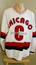 Mens Southpole  Chicago XL Crew Neck Sweatshirt White, Red & Blue- USA
