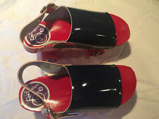 Vintage Famolare Roller Skates - Made in Italy 1970's - Navy & Red