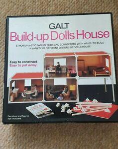RARE Vintage mid century GALT Build-Up Dolls House