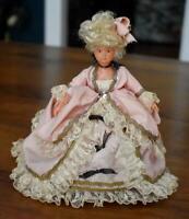 LOVELY & RARE OLDER FRENCH CELLULOID MARIE ANTOINETTE DOLL ALL ORIGINAL CLOTHING