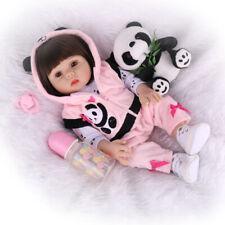 Reborn Baby Doll Full Silicone Vinyl Anatomically Gift Girl Dolls Newborn Toys