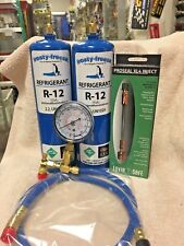 R12, Refrigerant 12, Virgin R-12, 2 Cans Gauge, Hose, Pro-Seal Xl4 Stop Leak