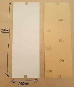 SAND PAPER VARIOUS QUANTITIES 1-100 100 GRAINS Sheets measures 10cm x 28cm
