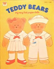 Teddy Bears Paper Doll Book,1978, Vintage Whitman 6 page Book, Uncut