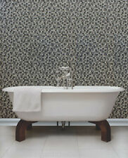 Grey Mosaic Tile, 3d Effect, Solid Vinyl, Fully Washable, Wallpaper