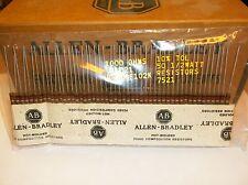 50 Allen Bradley Carbon Comp Resistors 1k 1/2W 10%