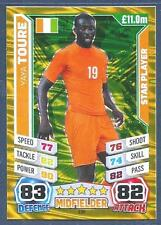 TOPPS MATCH ATTAX  BRAZIL 2014 WORLD CUP- #158-IVORY COAST & MAN CITY-YAYA TOURE