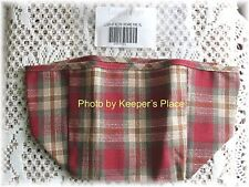 Longaberger ORCHARD PARK PLAID Small Recipe Liner Red Retired New