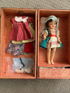 Ideal Toni Doll With Trunk and Clothes Circa 1950's