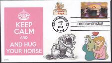 KEEP CALM   HUG YOUR HORSE    HORSIE HUGS       FDC- DWc CACHET