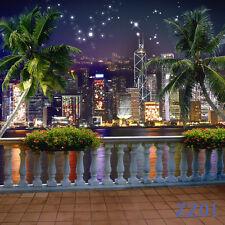 City Night View Vinyl Photography Backdrop Background Studio Props 10x10ft ZZ01