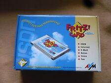 in Ordnung: AVM Fritz!Card PCMCIA 2.1 20001791 ISDN passiv +Zubehör +Garantie
