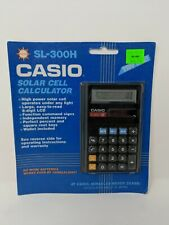 Casio SL-300H 8 Digit Solar Calculator Display New Old Stock VTG Made in Japan