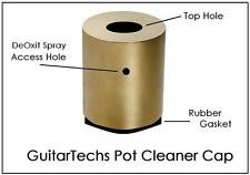 USA MADE GuitarTechs POT CLEANER CAP Scratchy Dirty Guitar Pot - use w/ DeOxit