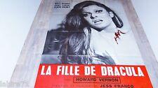 LA FILLE DE DRACULA  !  jess franco affiche cinema 1971